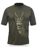 Gamewear 3D - tričko s potlačou - srnec -zelené