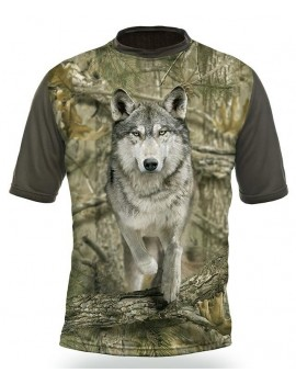 Gamewear 3D - tričko s potlačou - vlk -kamufláž