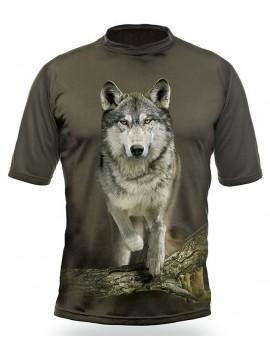 Gamewear 3D - tričko s potlačou - vlk -zelené