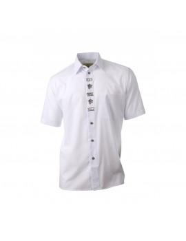Košeľa DUBOVÝ LÍISTOK biela - krátky rukáv