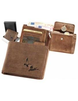 Peňaženka kožená kačice ležatá