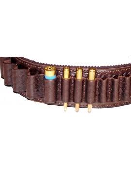 Nábojový pás podšitý, hovädzina, kombin., zdobený