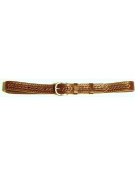 Kožený opasok zdobený basketom, 3 cm