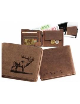 Peňaženka kožená kapor ležatá