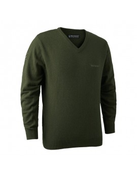 Brighton Knit V-Neck Green - sveter