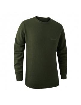 Brighton Knit O-Neck Green - sveter