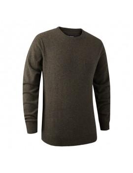 Brighton Knit V-Neck Brown - sveter
