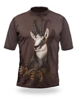 Poľovnícke tričko bavlna DGT Srnec b. Dub