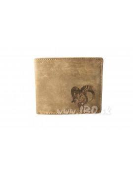 Peňaženka kožená jeleň hlava ležatá