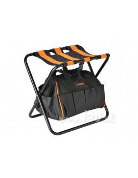Skladacia stolička s taškou na náradie VILLAGER